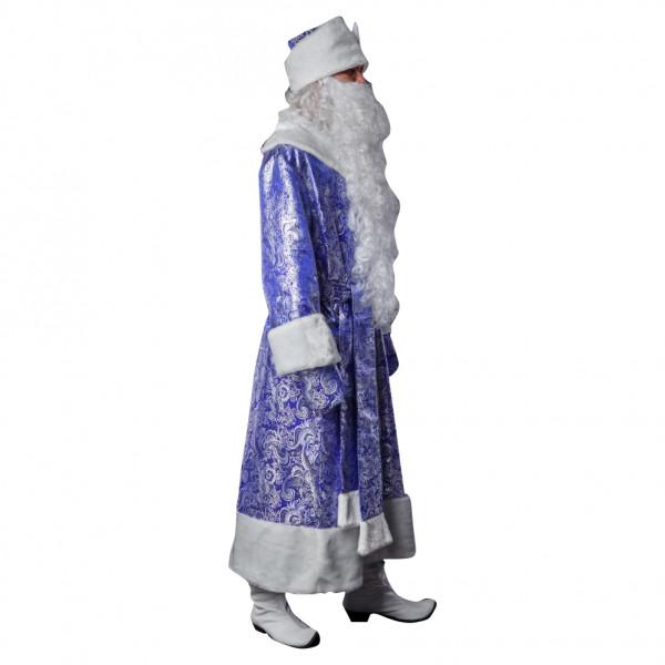 Костюм Деда Мороза синий из парчи. Рис. 2