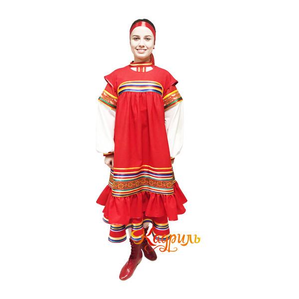Рязанский стилизованный танцевальный костюм. Рис. 1