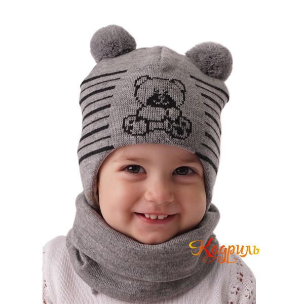 Шапка детская зимняя с рисунком. Рис. 3