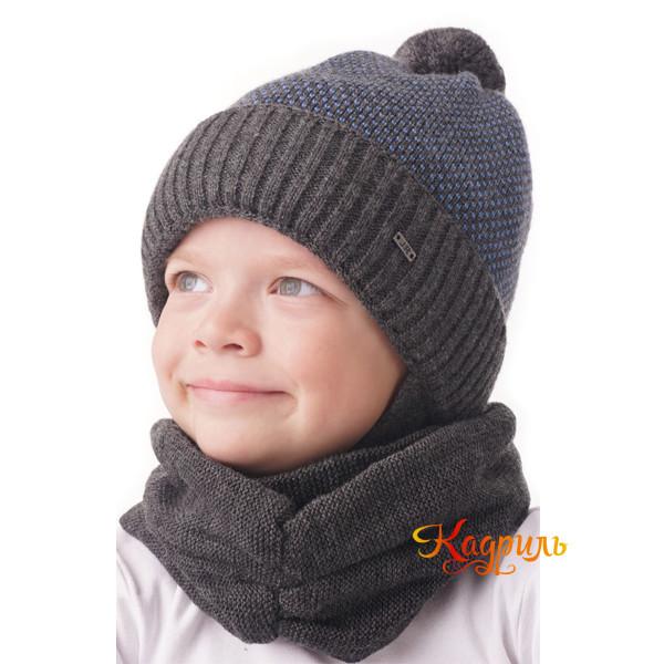 Шапка-шлем для мальчика вязаная. Рис. 2