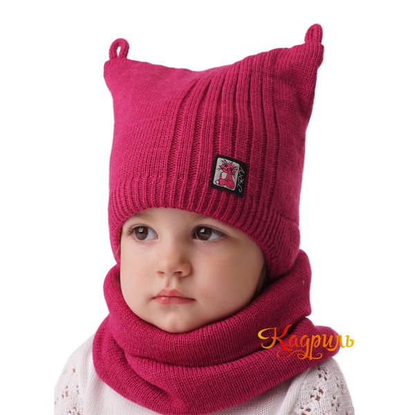 Детская вязаная шапка с ушками. Рис. 3