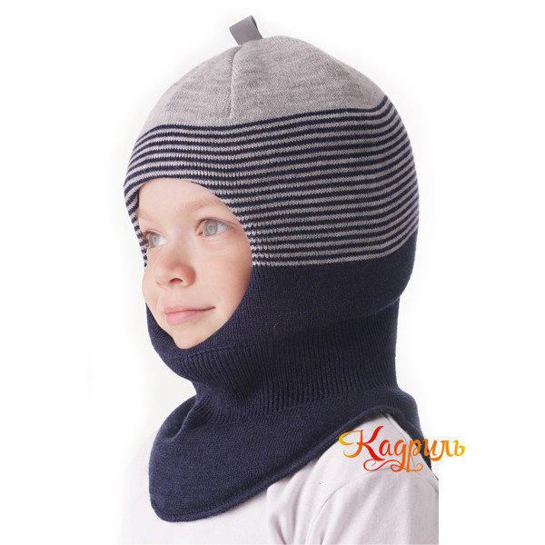 Шапка-шлем для мальчика зимняя. Рис. 3