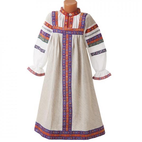 Русский народный сарафан детский. Рис. 4