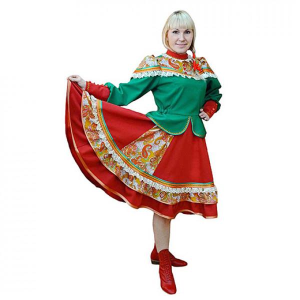 Сценический костюм казачки. Рис. 1